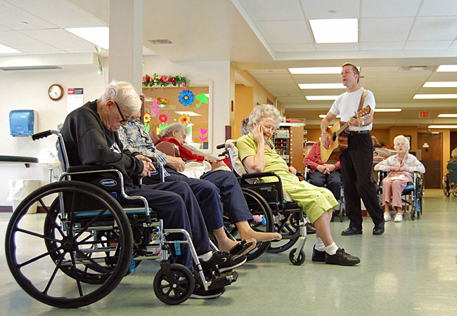 What is seen in a care facility