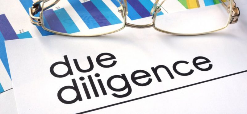 Pictorial Rep. of due diligence